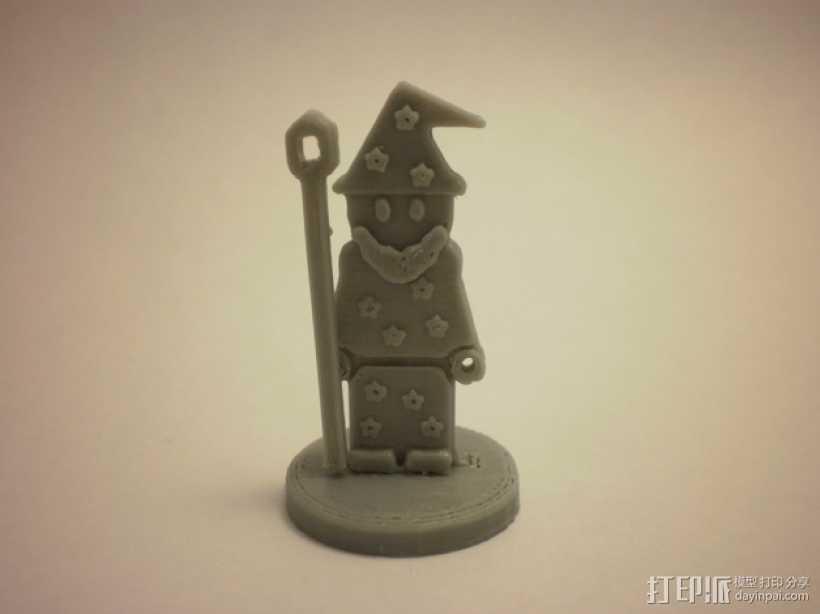 FlatMinis:巫师 3D打印模型渲染图