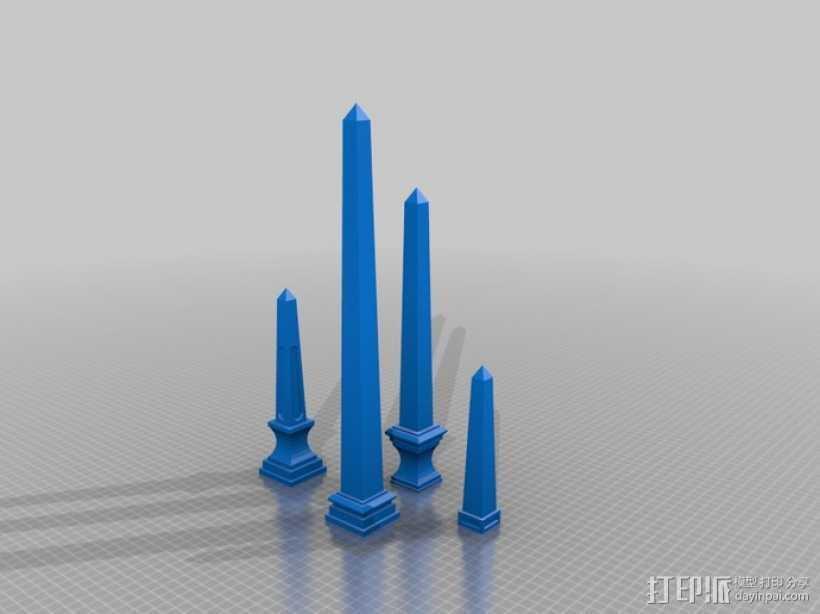模块化的方尖塔 3D打印模型渲染图