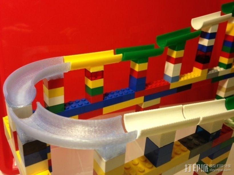 乐高滚珠轨道模型 3D打印模型渲染图