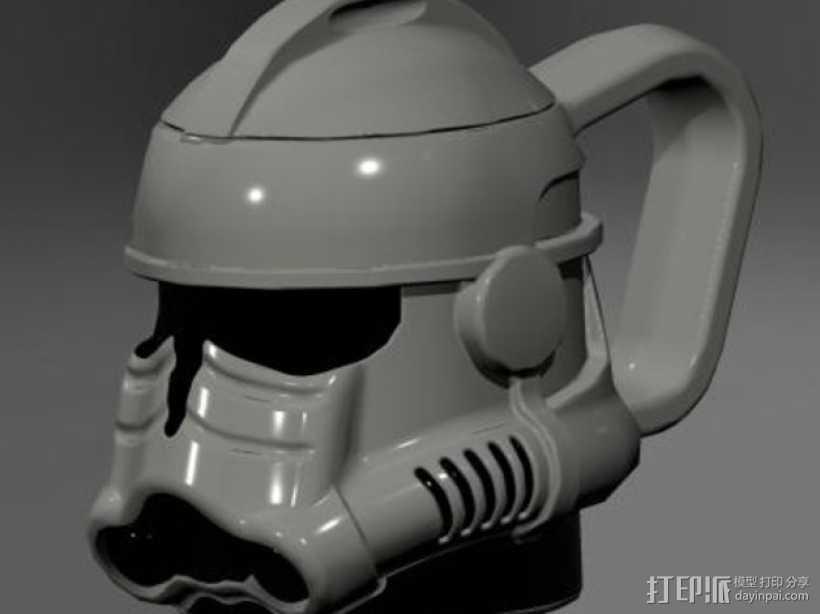 风暴骑兵马克杯 3D打印模型渲染图