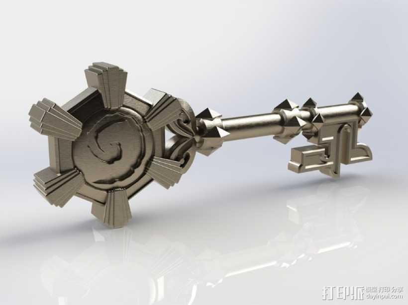 炉石传说12:竞技场钥匙 3D打印模型渲染图