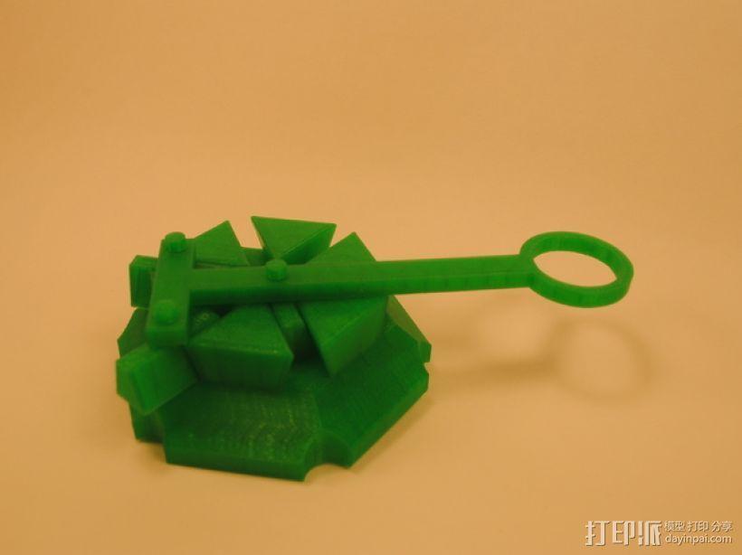 梁规旋转装置 3D打印模型渲染图
