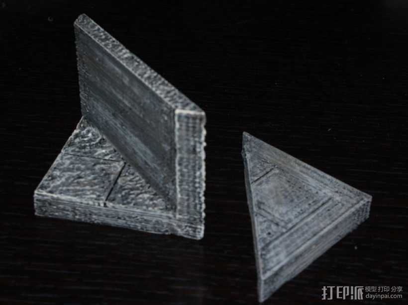 OpenForge平滑斜瓦 3D打印模型渲染图