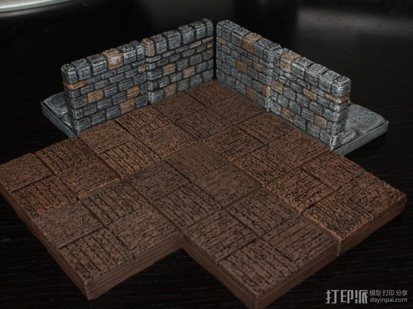 OpenForge木质瓦片 3D打印模型渲染图