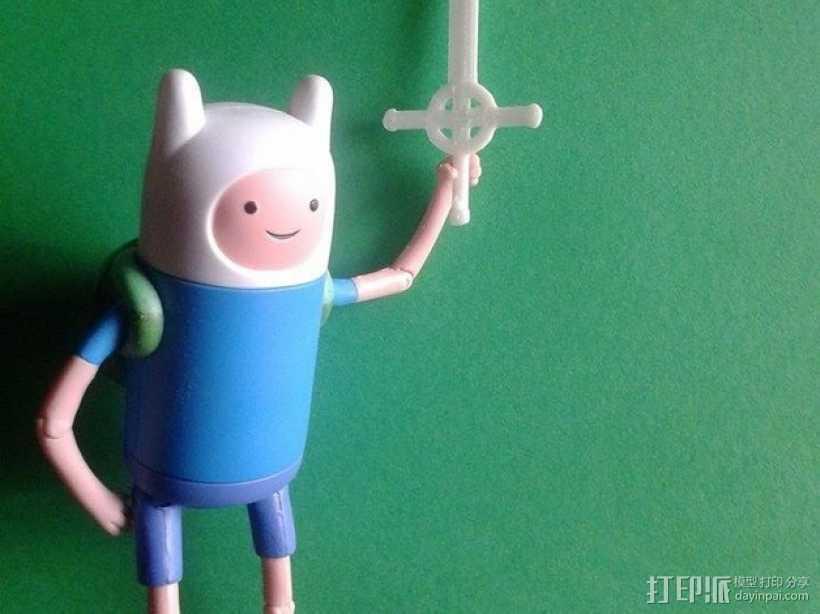 恶魔之剑Finn 3D打印模型渲染图