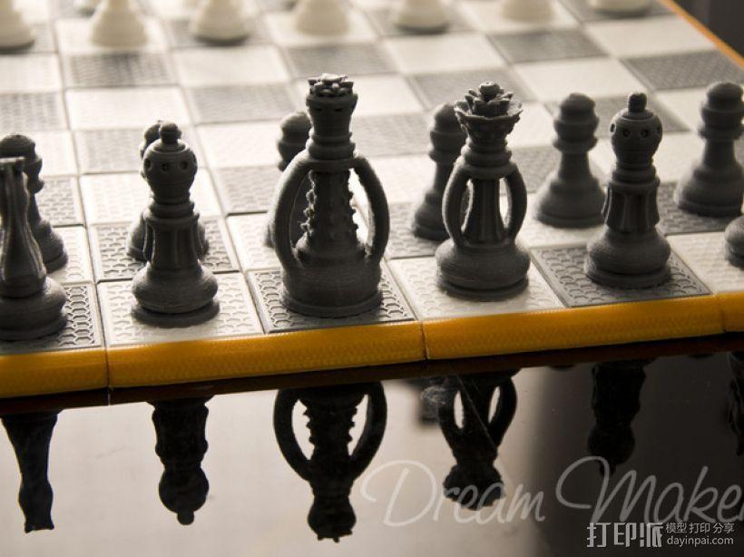 国际象棋棋具 3D打印模型渲染图