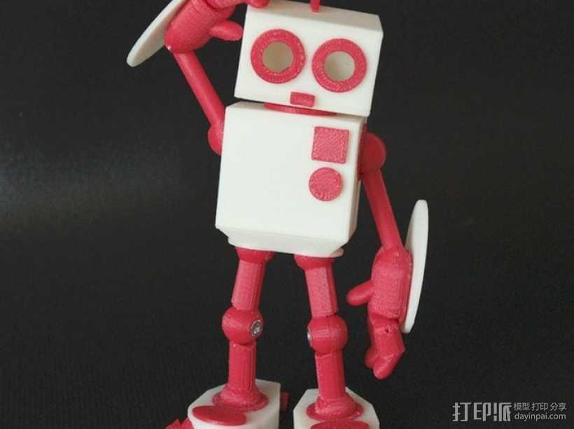 MAGG机器人玩偶 3D打印模型渲染图