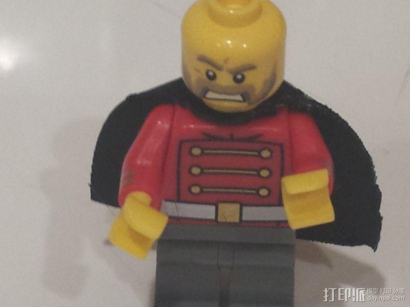 乐高超级英雄黑武士披肩 3D打印模型渲染图