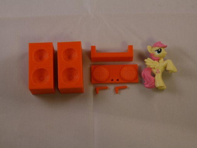 盲袋小马玩具套件 3D打印模型渲染图
