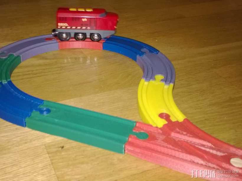 Brio玩具火车车轨模型 3D打印模型渲染图