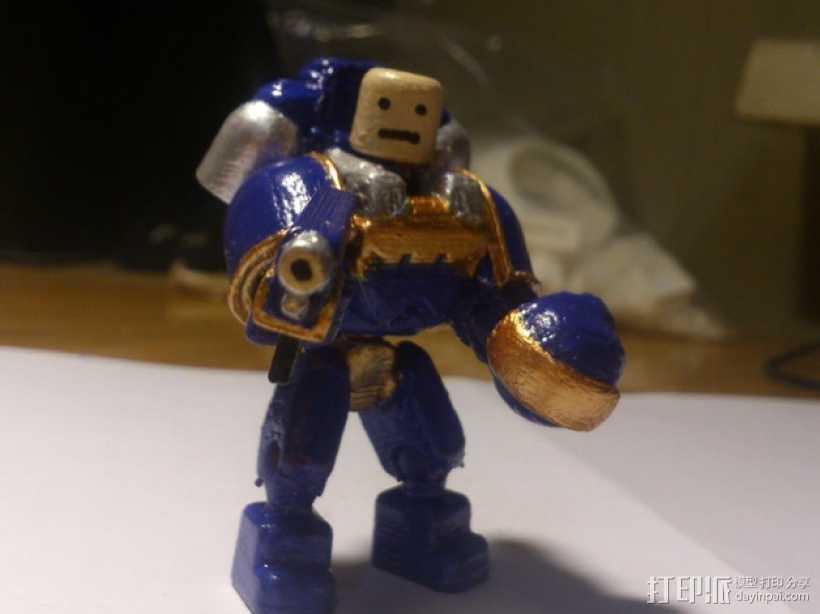迷你星际战士模型 3D打印模型渲染图