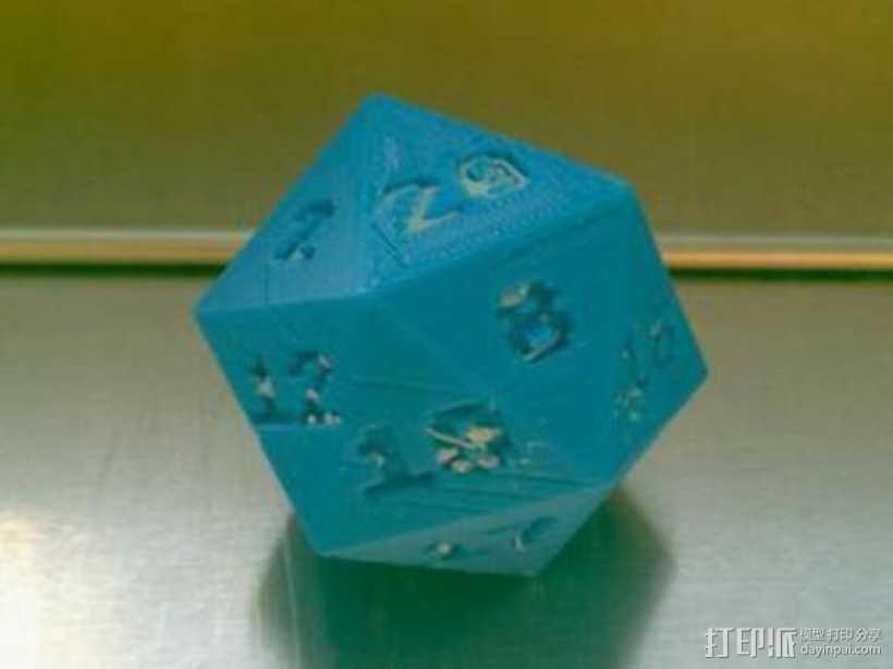 二十面体骰子 3D打印模型渲染图