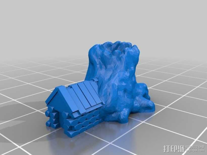 Pocket-Tactics:米德加德人 vs. 艾恩伍德一家 3D打印模型渲染图