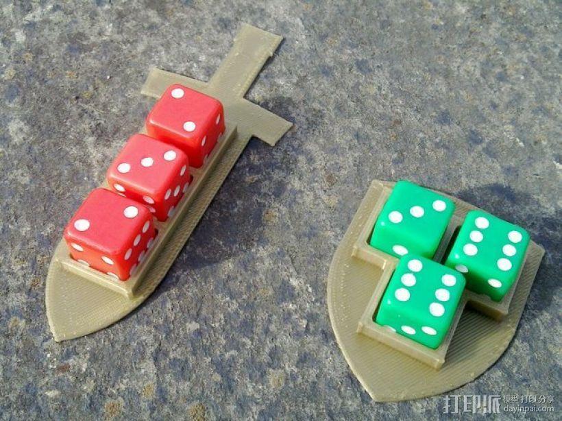 Pocket Tactics游戏骰子托盘 3D打印模型渲染图
