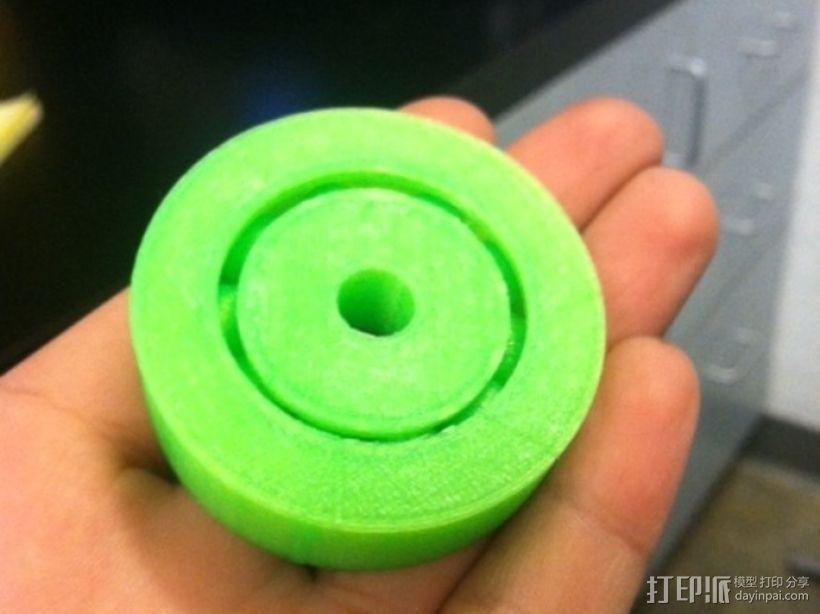 3D打印的滚珠承轴模型 3D打印模型渲染图