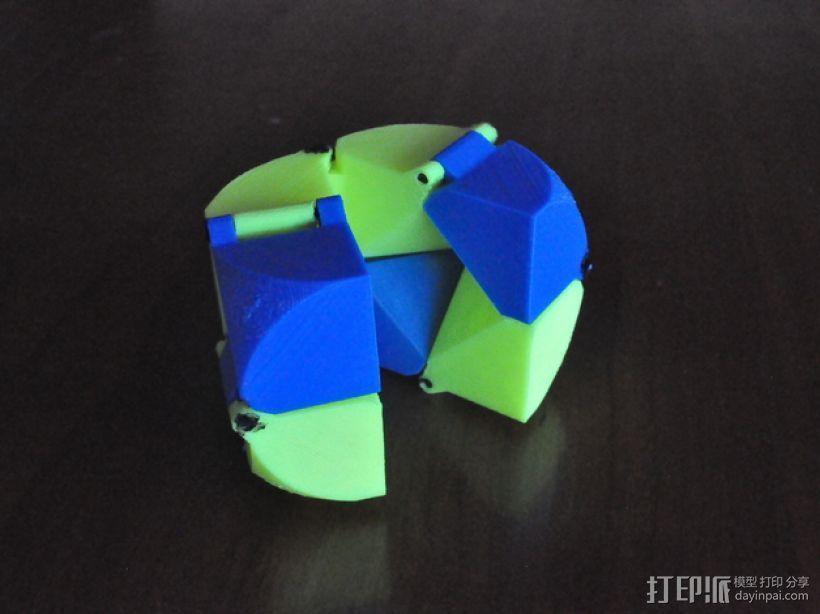 带轴销的折叠立方体 3D打印模型渲染图