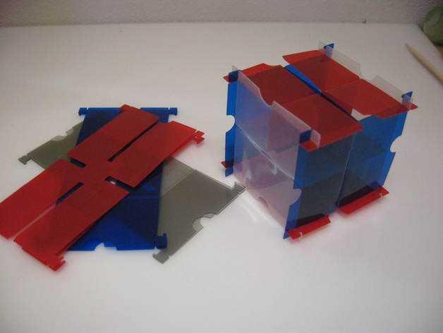 灵活的鲁班锁Cuburr 3D打印模型渲染图