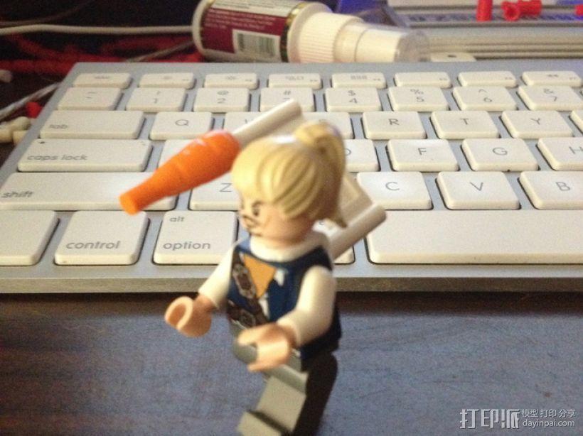 乐高玩具背部配适器模型 3D打印模型渲染图