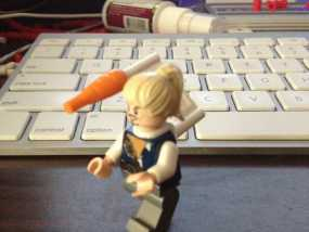 乐高玩具背部配适器模型