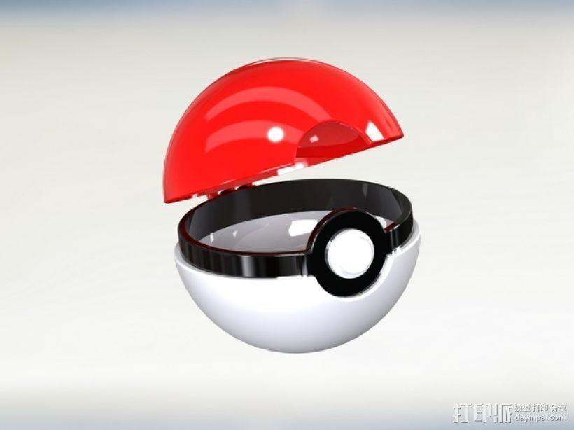 迷你神奇宝贝球 3D打印模型渲染图