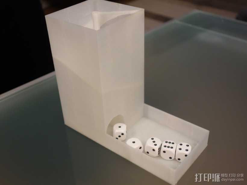 螺旋骰子塔模型 3D打印模型渲染图