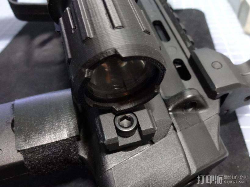 SF X300神火电筒防护镜帽 3D打印模型渲染图