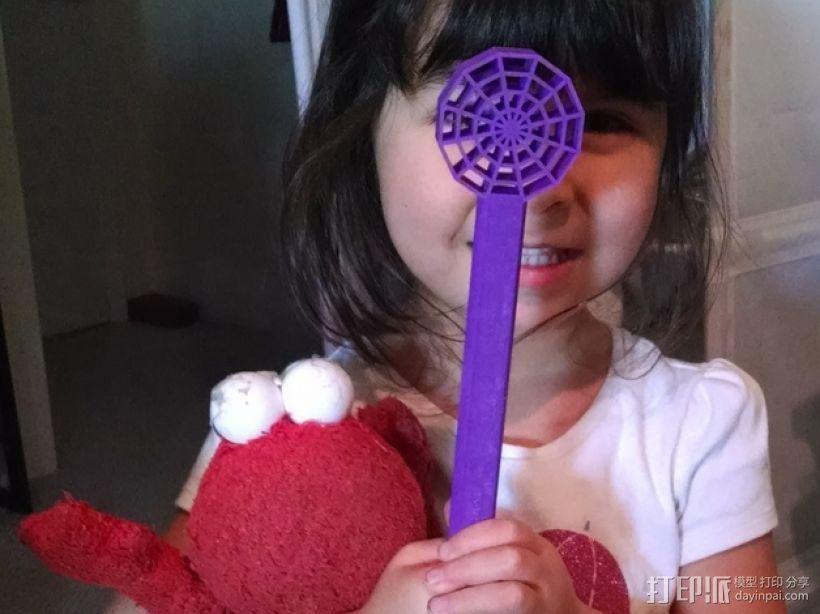 蜘蛛网形魔杖 3D打印模型渲染图