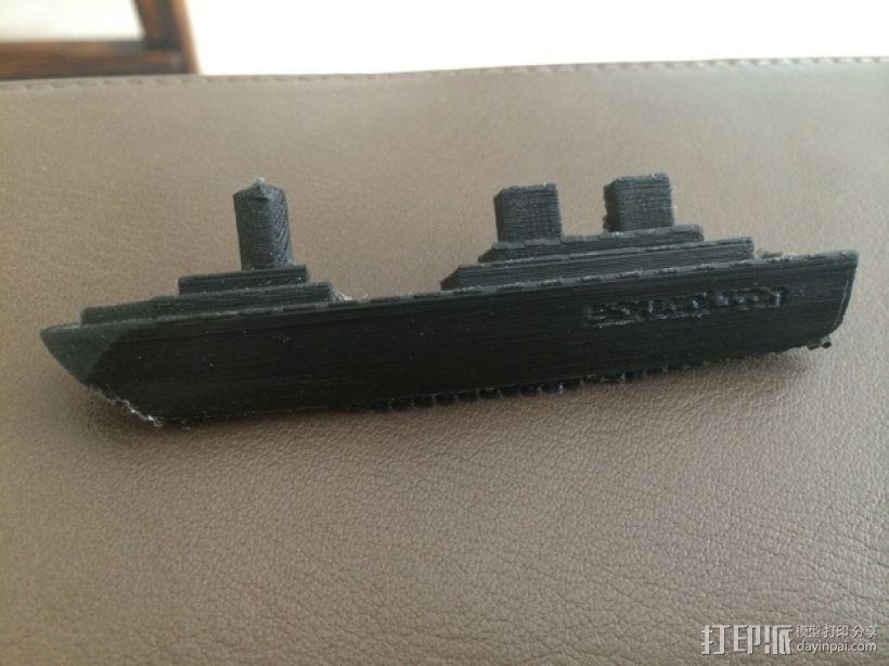 超级战舰模型 3D打印模型渲染图