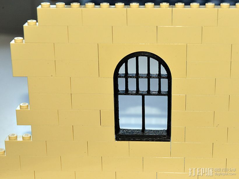 乐高玩具拱形门 3D打印模型渲染图