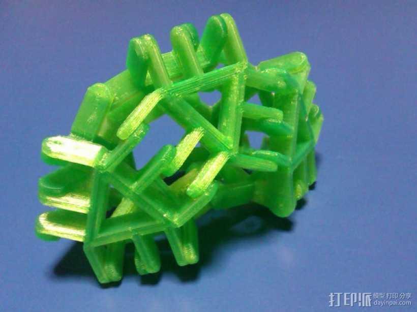 简易多边形玩具 3D打印模型渲染图