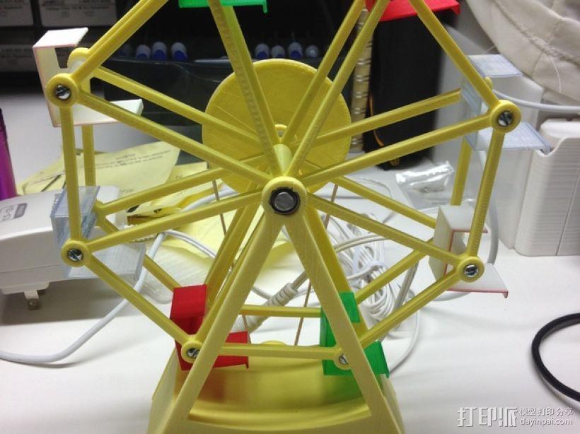 迷你摩天轮模型 3D打印模型渲染图