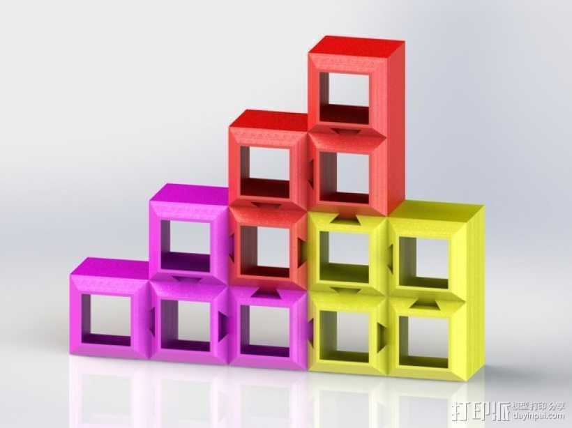 定制化模块化方块 3D打印模型渲染图