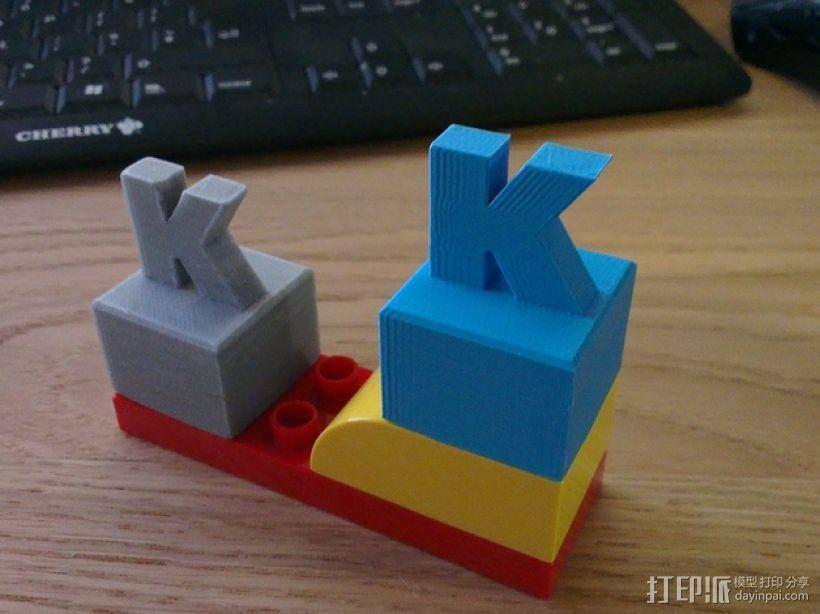 K字形得宝方块 3D打印模型渲染图