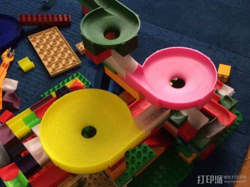 得宝兼容滚珠轨道模型 3D打印模型渲染图