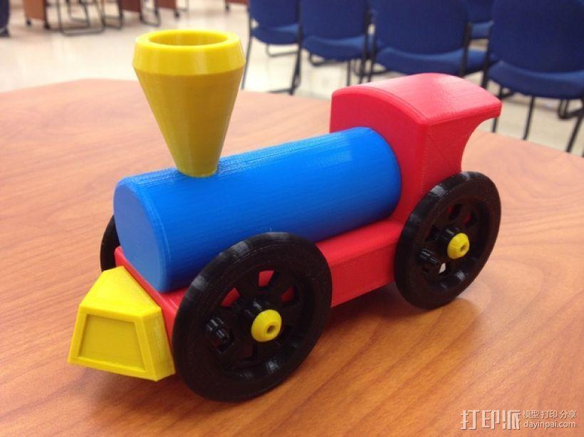迷你小火车 3D打印模型渲染图