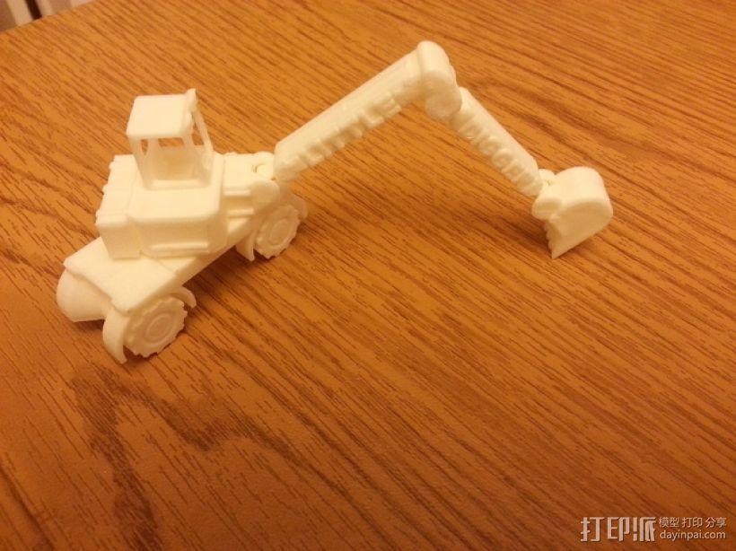 迷你挖掘机模型 3D打印模型渲染图