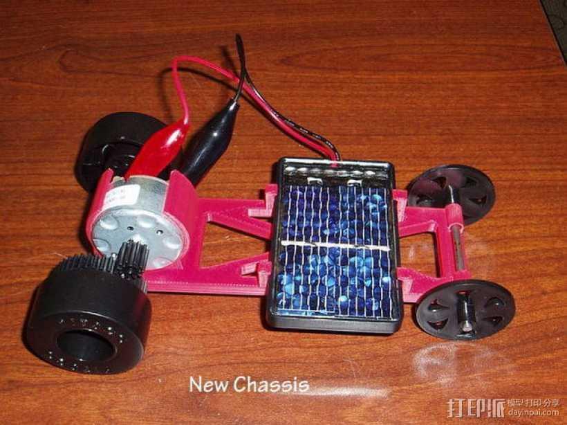 迷你太阳能车盘底座模型 3D打印模型渲染图