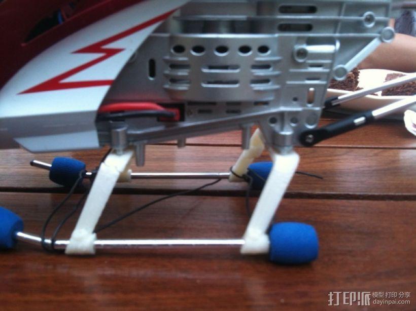 遥控直升机起落橇 3D打印模型渲染图