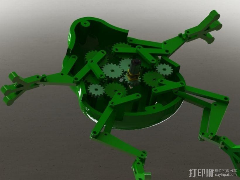 会游泳的机械蛙 3D打印模型渲染图