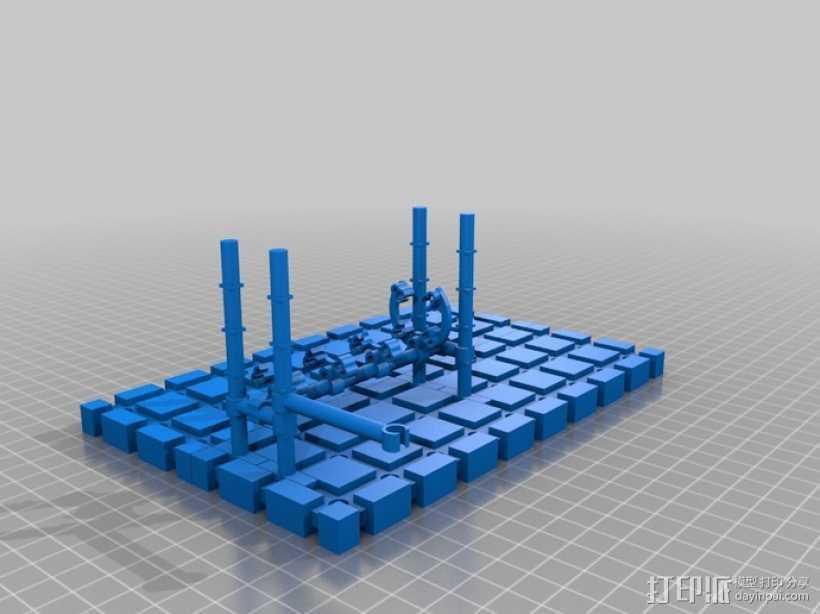 LairdWarp过山车模型 3D打印模型渲染图