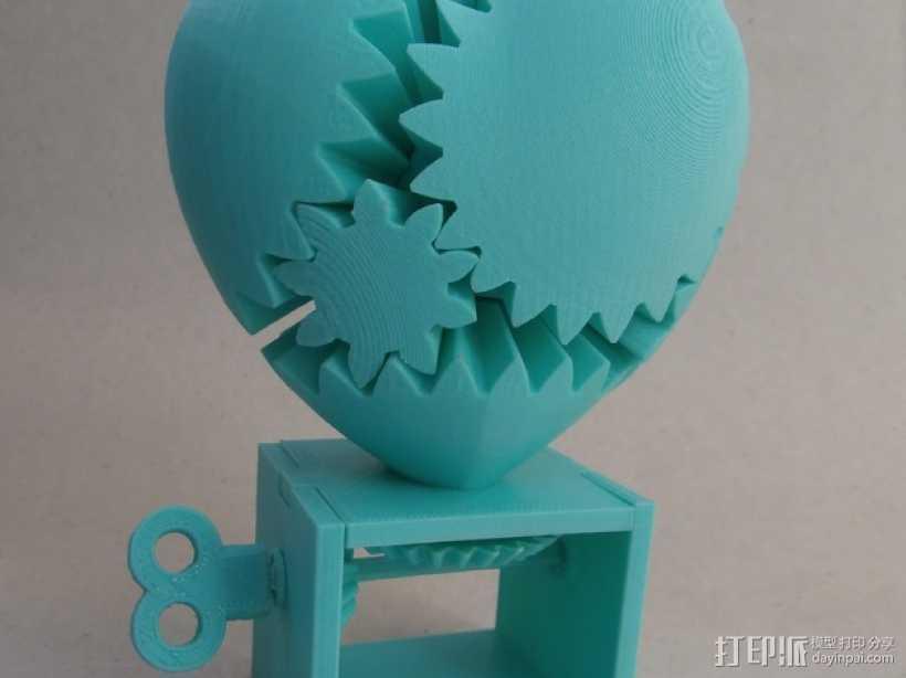 心形齿轮模型 3D打印模型渲染图