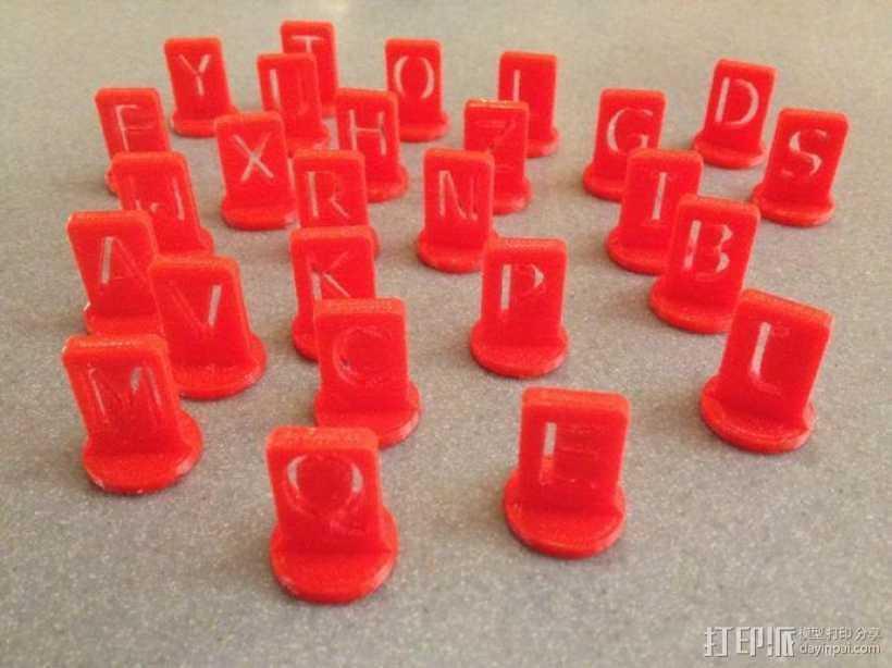 游戏战争棋子 3D打印模型渲染图