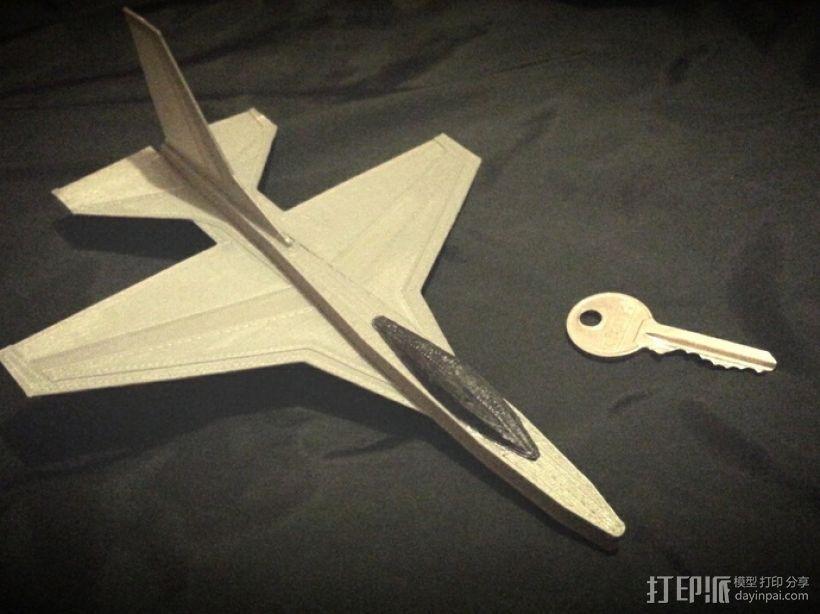 F16滑翔机模型 3D打印模型渲染图