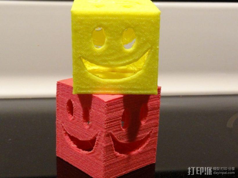 迷你笑脸盒 3D打印模型渲染图