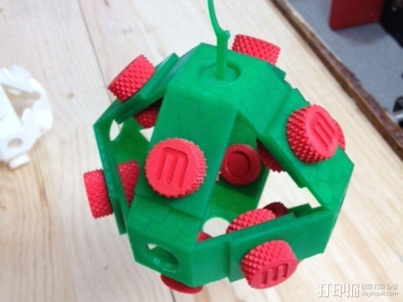 机械复古小球Makerball 3D打印模型渲染图