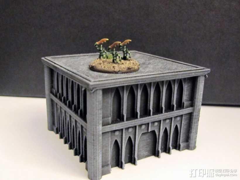 战锤Epic 40k:哥特式建筑 3D打印模型渲染图