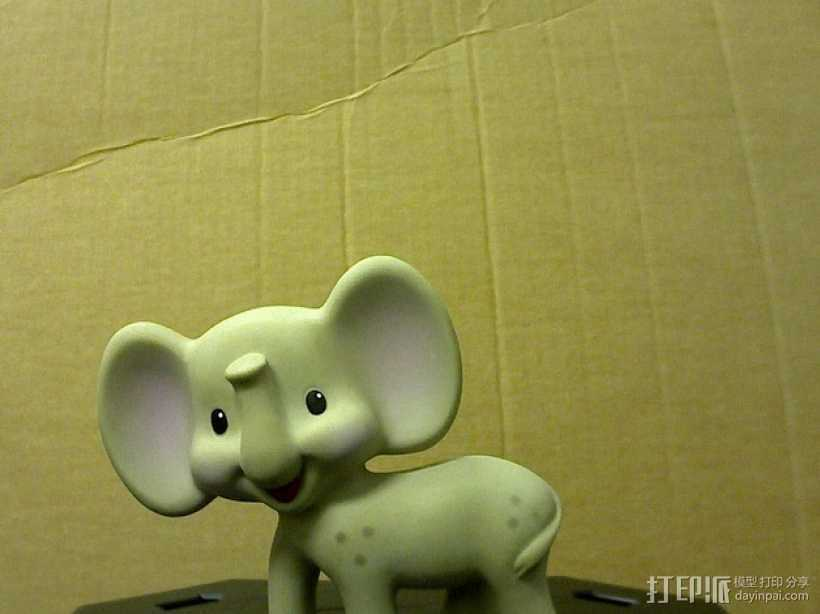 迷你小象模型 3D打印模型渲染图