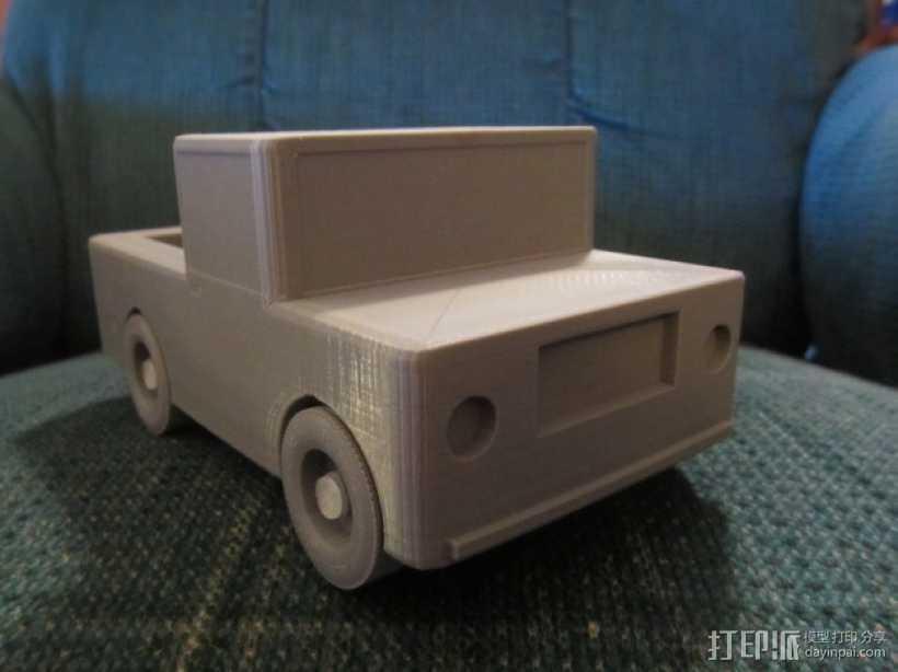 迷你玩具卡车模型 3D打印模型渲染图