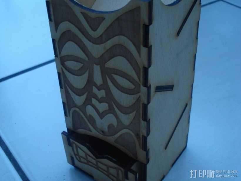 Tiki骰子塔模型 3D打印模型渲染图