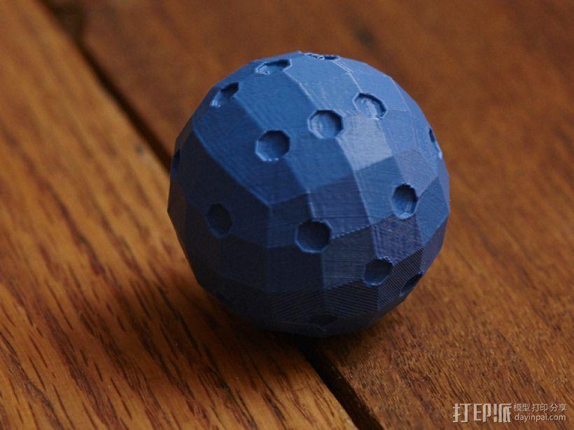 迷你球形骰子模型 3D打印模型渲染图